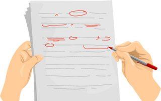 proofreading document